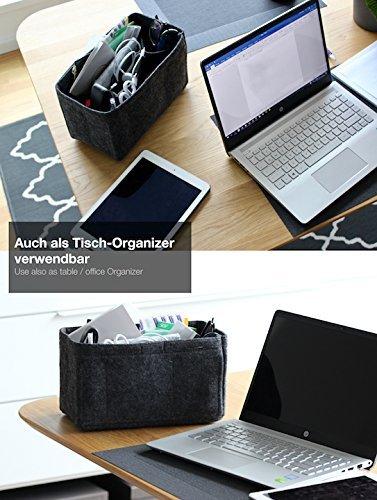51poyeDKmVL - Classic Slash Handbag Organiser - Bag in Bag - Insert Pouch for Women Purse - Felt