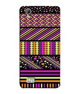 PrintVisa Designer Back Case Cover for VivoY31L (multi color textured designer image)