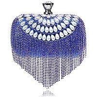 Best 4U® Femme Sacs Polyester Sac de soirée Perle fausse Boutons pour Décontracté Toutes les Saisons Bleu Or Noir Argent Rouge