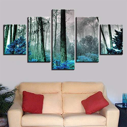Dekorative Malerei,Inkjet Home küche wandbild Nebel Wald Druck fünf Kampf frische Kunst malerei 2 malerei Kern 20x35cmx2 20x45cmx2 20x55cmx1