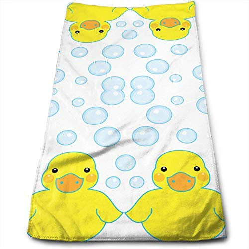 Rubber Ducks and Bubbles Multi-Purpose Microfiber Towel Ultra Compact Super Absorbent and Fast Drying Sports Towel Travel Towel Hair Beach Towel (Super Bubble Bath)