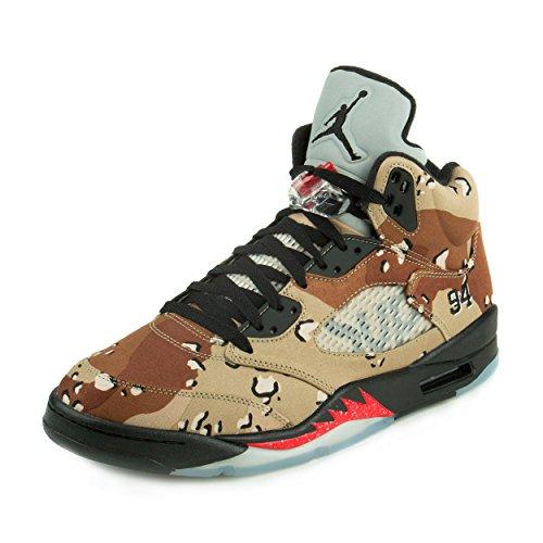 Nike Herren Air Jordan 5 Retro Supreme Turnschuhe, Braun/Schwarz/Grau (Bambus/Schwarz-Classic Stein CHN), 45 EU (Verkauf Schuhe Herren Nike)