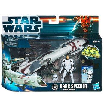 Hasbro – 91361– Star Wars The Clone Wars – Barc Speeder Bike avec Clone Trooper
