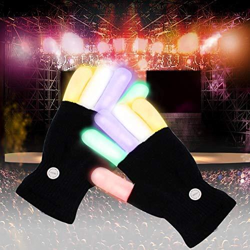 e, LED blinkende bunte Finger Gloves, Coole Spielzeuge Handschuhe mit LED, lustige Handschuhe als Geschenke zu Weihnachten Geburtstag und Karneval für Kinder Mädchen Junge, ()