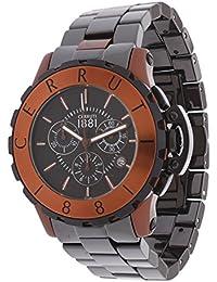 Cerruti Hombre Reloj de pulsera cerámica negro cra07 8z299h