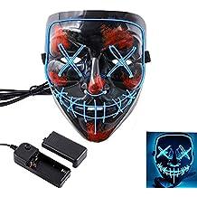 SehrGo Halloween LED Máscara Ilumina la Fiesta Máscara de Cosplay con Pilas (No Incluida)