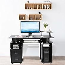 Mesas ordenador negra yosoo for Mesa ordenador amazon