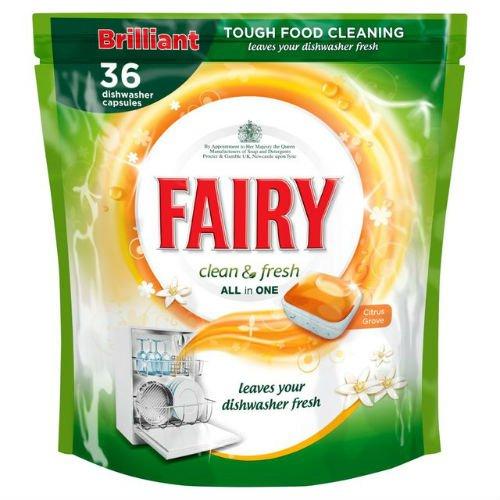 Fairy Clean & fresh lavastoviglie Agrumeto 36per confezione di 6