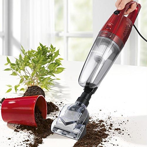 CLEANmaxx 01299 Saugstarker Handstaubsauger, beutellos   Bürsten und Bodensauger   600 Watt