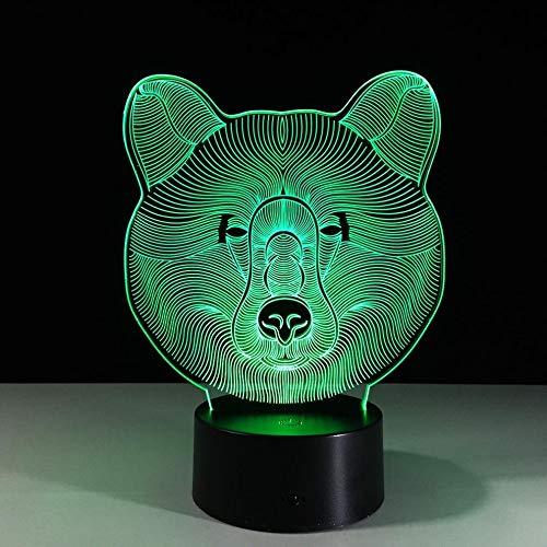 Tragen Sie 3D Optische Täuschung Lampe 7 Farbe Acryl Board Touch Taste Usb Kabel Abs Cradle Kind Schlafzimmer Schmücken Geburtstagsgeschenk Nachtlicht Cradle-kabel