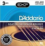 d' Addario EXP16–3D con rivestimento in bronzo fosforoso corde per chitarra acustica, 12–53, 3set, chiaro