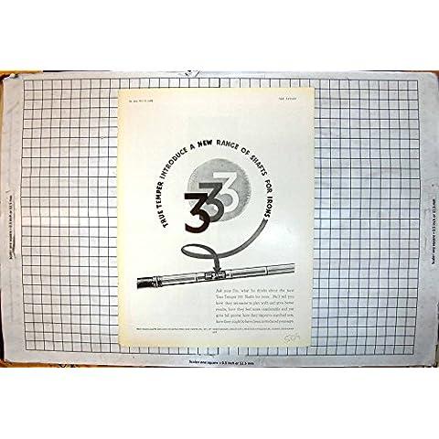 La Impresión del Vintage de los Ejes Verdaderos del Genio 333 Para los Hierros Golf el Anuncio
