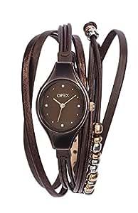 Opex - X2346LA2 - Filante - Montre Femme - Quartz Analogique - Cadran Marron - Bracelet Cuir Marron