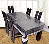 Casa Furnishing 6 Seater Pvc Table Cover; Clear White Less ;60X90 Inches Dining Table Cover 6 Seater] at amazon