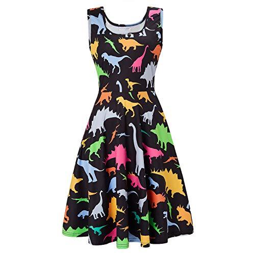 ACUCANDY Kürbis ärmellos Scoop Neck Kleid Damen's Halloween Kostüm Schwingen Kleid