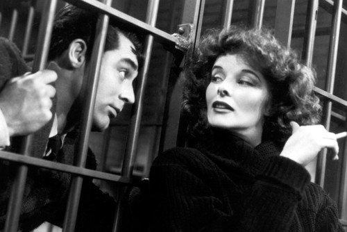 Moviestore Katharine Hepburn als Susan unt Cary Grant als David in Bringing Up Baby 91x60cm Schwarzweiß-Posterdruck -