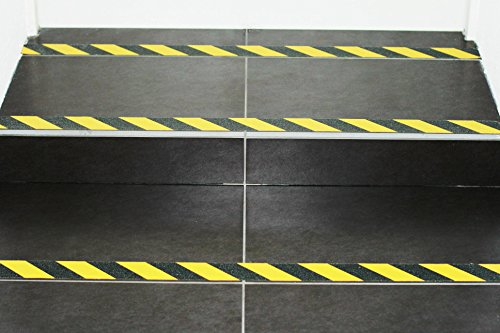 m2-Antirutschbelag Warnmarkierung schwarz/gelb Rolle 50mm x 18,3m