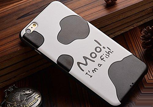"MOONCASE iPhone 6S Hülle, [Skull] Kreativ Bunt Muster Design Gel TPU Schutzhülle für iPhone 6 / 6S 4.7"" Handyhülle Silikon kratzfeste stoßdämpfende Case Cow Skin"