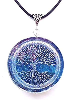 collier Orgone; L'orgonite; Collier; pendentif arbre de vie protection