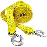 LVEDU Correas de Cuerda de Remolque para Coche, 3 m de Longitud, Resistentes, 22.000 LB, Correa de Remolque con Ganchos, Resistente Cinturón de Remolque hasta 1 tonelada