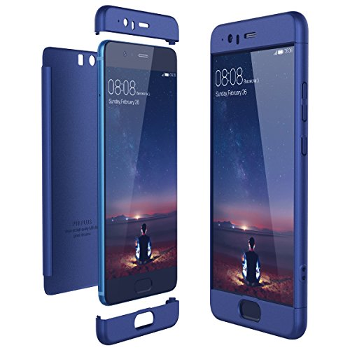 CE-Link Cover Huawei P10 Plus 360 Gradi Full Body Protezione, Custodia Huawei P10 Plus Silicone 3 in 1 Antishock e Antiurto, Huawei P10 Plus Case - Blu