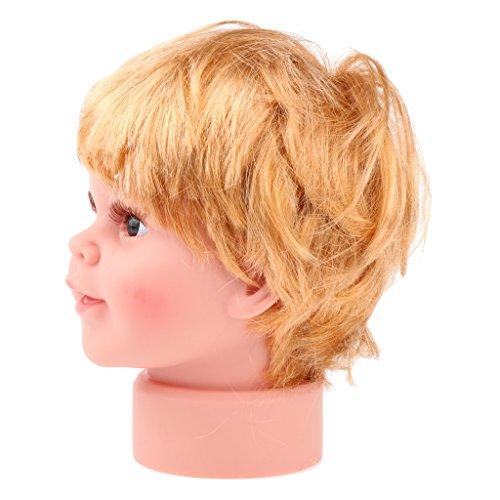 MagiDeal Mannequin Junge Kopfmodell Schaufensterpuppen Trainingskopf aus PVC für Hüte, Schals, Haare, Perücken, Gesichtsmassage und Make-Up Größe - S