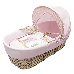 Beary Nice Pink Moses Basket Dressings only(Basket   8