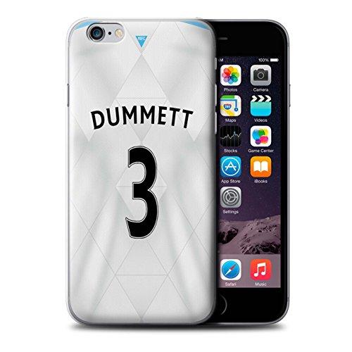 Offiziell Newcastle United FC Hülle / Case für Apple iPhone 6S / Lascelles Muster / NUFC Trikot Away 15/16 Kollektion Dummett