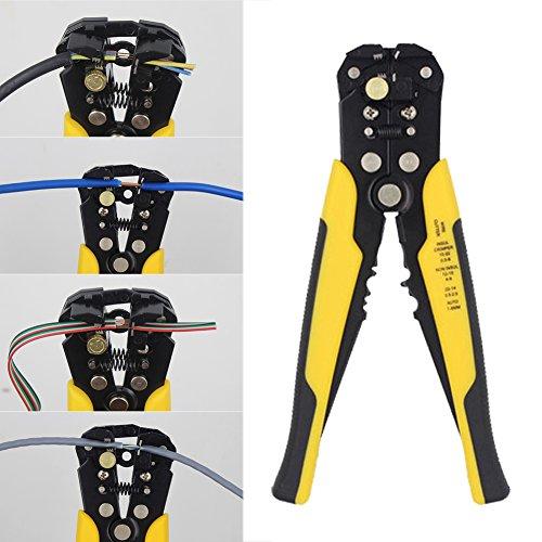 Automatische Kabel (Professional Heavy Duty-Draht Stripper Cutter Abisolieren Werkzeug Automatische anpassende Kabel-Crimper Zange)