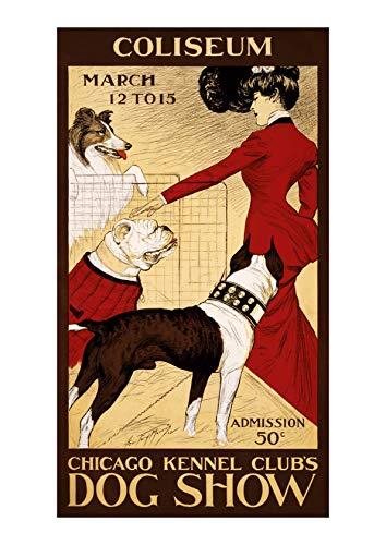 Spiffing Prints Chicago Kennel Club's Dog Show - Large - Matte - Framed -