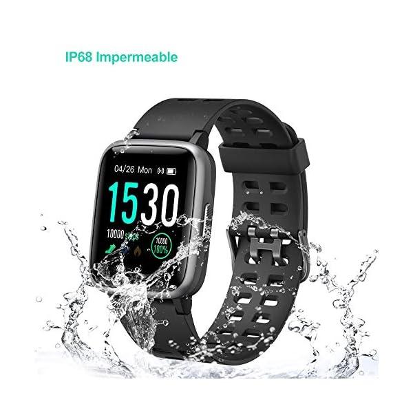 Willful Smartwatch Impermeable Reloj Inteligente con Pulsómetro, Pulsera Inteligente para Deporte con Cronómetro, Podómetro. Smartwatch Hombre Mujer Niños para Android iOS Xiaomi Huawei iPhone 9