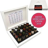 Hallingers Grillkalender BBQ 24 Männersache, white Set/Mix 24x Miniglas in Deluxe-Box, 425 g