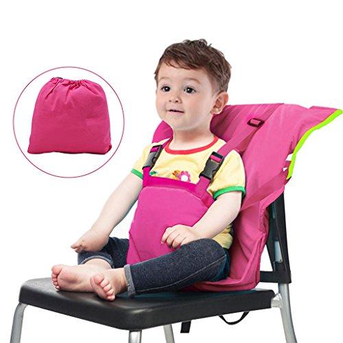 Vine Chaise Nomade pour Bébé Tissu de voyage portable Chaise haute siège d'appoint pour infant Harnais de Sécurité Siège
