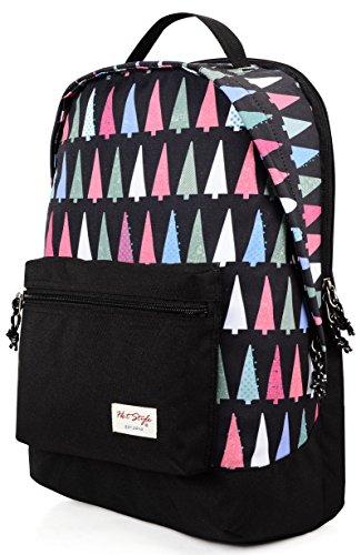 971s Bedrucken Schule Rucksack | 45x29x16cm | Hält 15,6-Zoll Laptop | Weihnachtsbaum (Junior Handtaschen Bag Army)