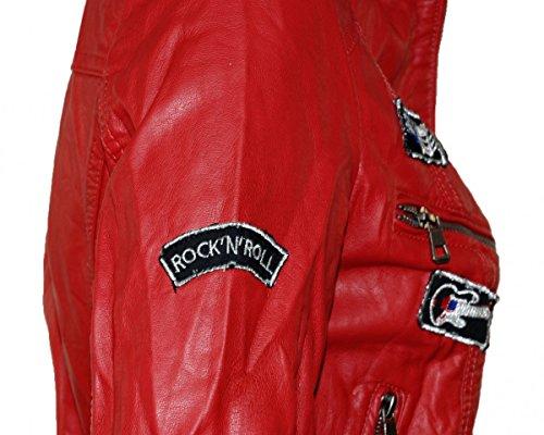 Softly Premium Damen Vegan Lederjacke 8 Farben 2516 Rock N Roll Style - 3