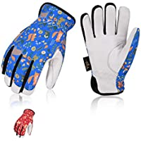 Vgo 2Pairs Age 3-4 Kids 32 ℉ or above 3M Thinsulate C40 Lined Winter High Dexterity Light Duty Water Repellent Work Gloves (Size XS,Blue&Red,GA9603FW)