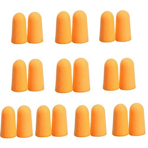 10Paar Weich orange Foam Ear Plugs konisch Reise Schlaf Noise Prävention 2Geräuschunterdrückung für Reisen schlafen preisvergleich