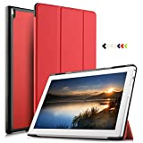 IVSO Lenovo Tab 4 10 PLUS Cover Custodia - Slim Smart Cover Custodia Protettiva in pelle PU per Lenovo Tab 4 10 Plus TB-X704L Lenovo Tab 4 10 Plus TB-X704F Tablet, Rosso