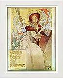 L Lumartos Vintage-Poster, Alphonse Mucha, weiß, A3