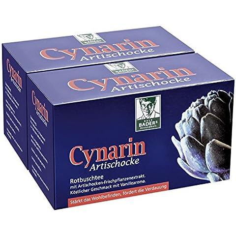 BADERs Cynarin Artischocke. Té de arbusto rojo, alcachofa y cinarina. Fortalece la sensación de bienestar y favorece la digestión. Paquete ahorro de 2 x 20 bolsitas