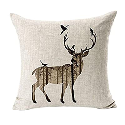 DWE Tonwalk Simple Deer Pillow Case Sofa Bed Home Decor Cushion Cover 45x45cm - low-cost UK light shop.