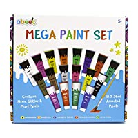 abeec Mega Paint Set for Kids - Contains 18 Paints and 1 Paint Brush