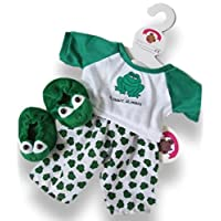 Build Your Bears Wardrobe 15-Inch Clothes Fits Build Bear Frog PJs Costume with Slippers