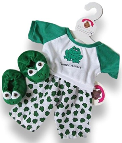 Aufbau Ihr Bears Kleiderschrank 15Zoll Kleidung passt Aufbau Bär Frosch Mädchen Kostüm mit (Bear Build A Kostüme)