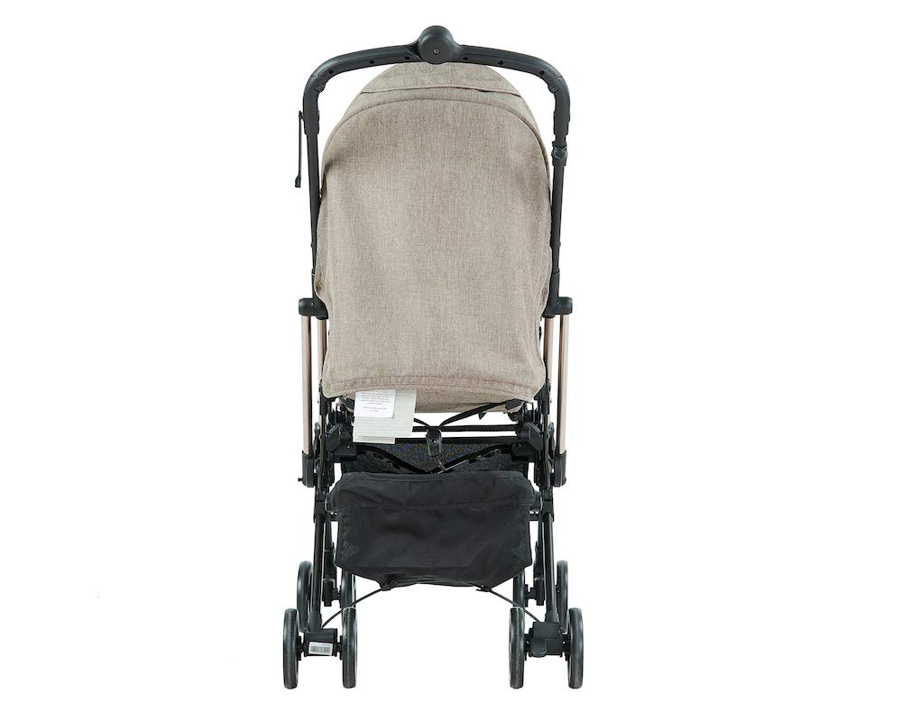 Roma Capsule² Compact Airplane Travel Buggy from Newborn Only 5.6 kgs + Rain Cover, Insect Net and Travel Bag - Tweed with a Rose Gold Chassis Roma Compact lie-back stroller - suitable from newborn to 15 kgs Includes rain cover, insect net, travel bag Locked and swivel wheels, shopping basket, 7