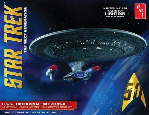 AMT amt955Maßstab 1: 1400Modell Star Trek USS Enterprise 1701-D-Clear Edition (Auto-modell Im Maßstab Kit)