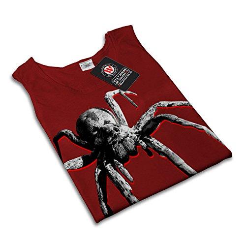 Spinne Giftig Tier Fliegend Fehler Damen Schwarz S-2XL Muskelshirt | Wellcoda Rot