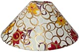"RDC 13"" Round Cream with Golden Polka Dots Flower Design Lamp Shade for Table Lamp or Floor Lamp"