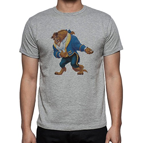 Beauty And The Beast Cartoon Bowing Herren T-Shirt Grau
