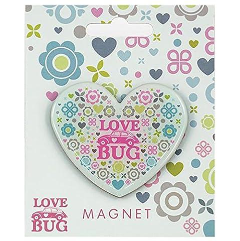 VOLKSWAGEN aimant pour réfrigérateur en forme de cœur, Love Bug